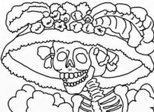 Dibujos para colorear de dia de muertos