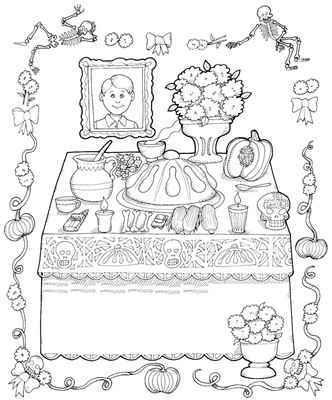 Resultado de imagen para dibujos de muertos para colorear