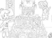 Dibujos de altares de muertos